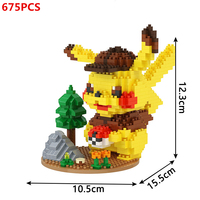 DIY mini ideas Anime Pokemon Detective Pikachu Elf ball Building Blocks Model Sets Bricks Classic Movie For Children Toys Gift 4