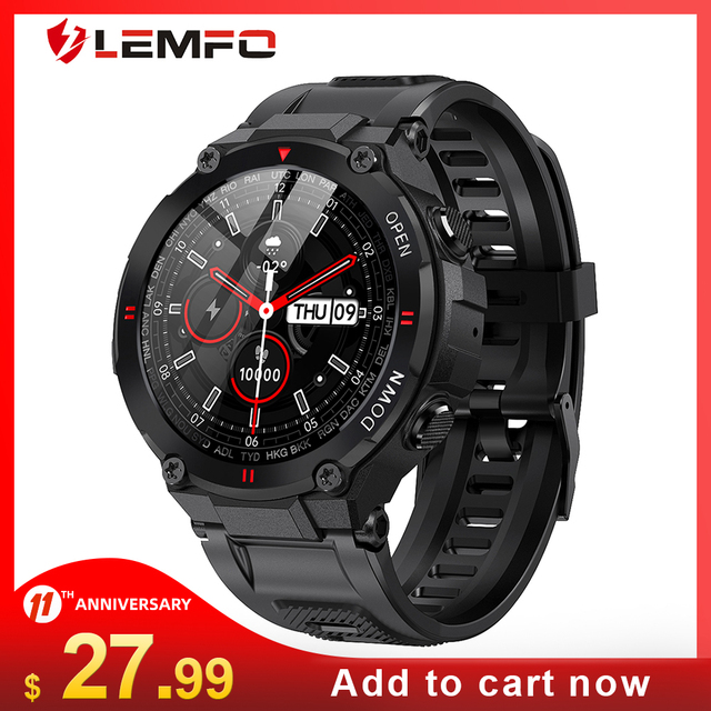 LEMFO Smart Watch Men Sport  Bluetooth Call 2021 New Music Control Alarm Clock Reminder Smartwatch for Android Phone 1