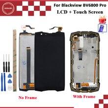 Ocolor ل Blackview BV6800 برو شاشة الكريستال السائل و شاشة تعمل باللمس مع الإطار 100% اختبار الأسود مع أدوات فيلم الجمعية 5.7
