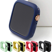 TPU case Cover For Apple watch serie 5 4 3 2 1 Protective Bumper correa apple watch 42mm 40mm 44mm 38mm For iwatch accessories camouflage watch case for apple watch 3 2 1 soft tpu shell for iwatch 38 42mm bumper protective cover frame watches accessories