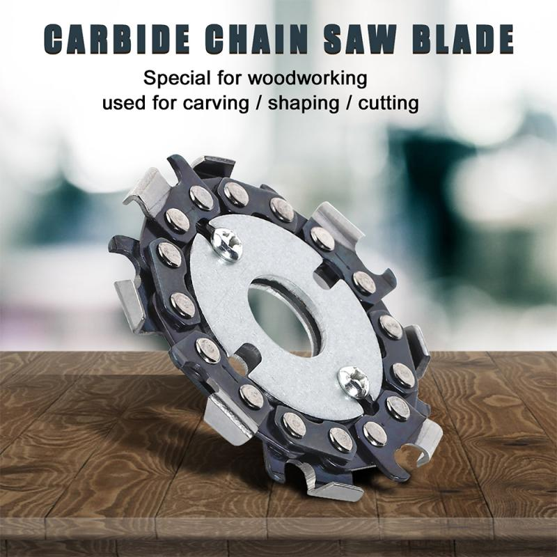 16mm 2.5 Inch Heavy Duty 2-in-1 Wood Carving Cutting Disc For Angle Grinder Woodworking Chain Plate Arving Disc Angle Grinding
