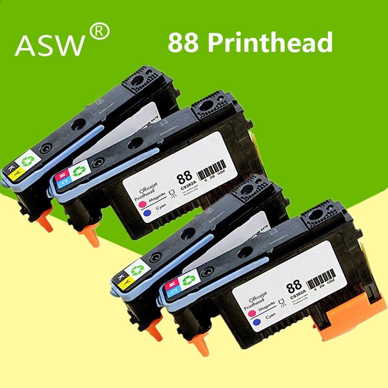 ASW 2 комплекта 4PK для Hp 88 печатающая головка HP 88 печатающая головка C9381A C9382A для HP PRO K550 K8600 K8500 K5300 K5400 L7380 L7580 L7590 принтер
