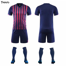 Strip Jerseys football jerseys set 2020 all age soccer Jersey Sportswear Kids custom Youth Team Uniforms Sets high quality Kits diy football soccer jerseys set men s football uniforms set custom soccer shirts and shorts adult sports sets suit 2019 2020 new