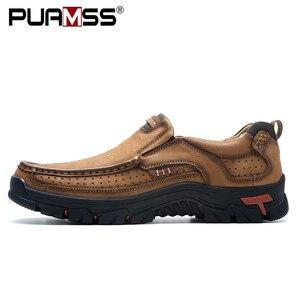 Image 2 - 2019 Nieuwe Heren Schoenen Echt Leder Mannen Flats Loafers Hoge Kwaliteit Outdoor Mannen Sneakers Man Casual Schoenen Plus Size 48
