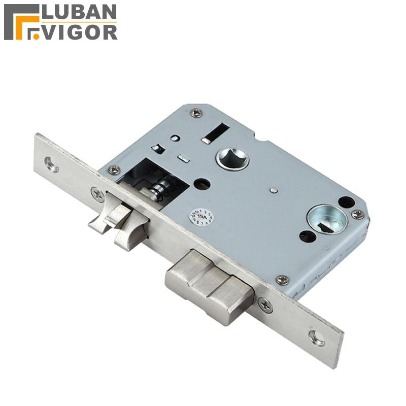 50x50 Fingerprint Lock Body,stinless Steel Panel ,5050 Indoor Wooden Door Lock Body ,Lock Margin 50 Center Distance 50,