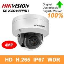Hikvision original DS 2CD2145FWD I Cámara PoE IP 4MP red cámara de seguridad cctv IR30 IP67 ranura para tarjeta SD 30m VERSIÓN NOCTURNA