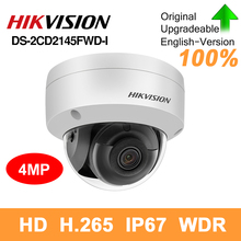 Hikvision original DS 2CD2145FWD I PoE IP Camera 4MP Network CCTV security camera IR30 IP67 SD Card Slot 30m Night version