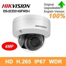 Hikvision original DS 2CD2145FWD I poe câmera ip 4mp rede cctv câmera de segurança ir30 ip67 sd slot para cartão 30m noite versão