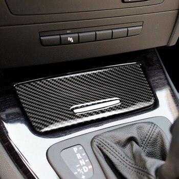 For BMW old 3 series E90 E92 E93 accessories Interior Carbon Fiber ashtray cigarette case Panel car stickers