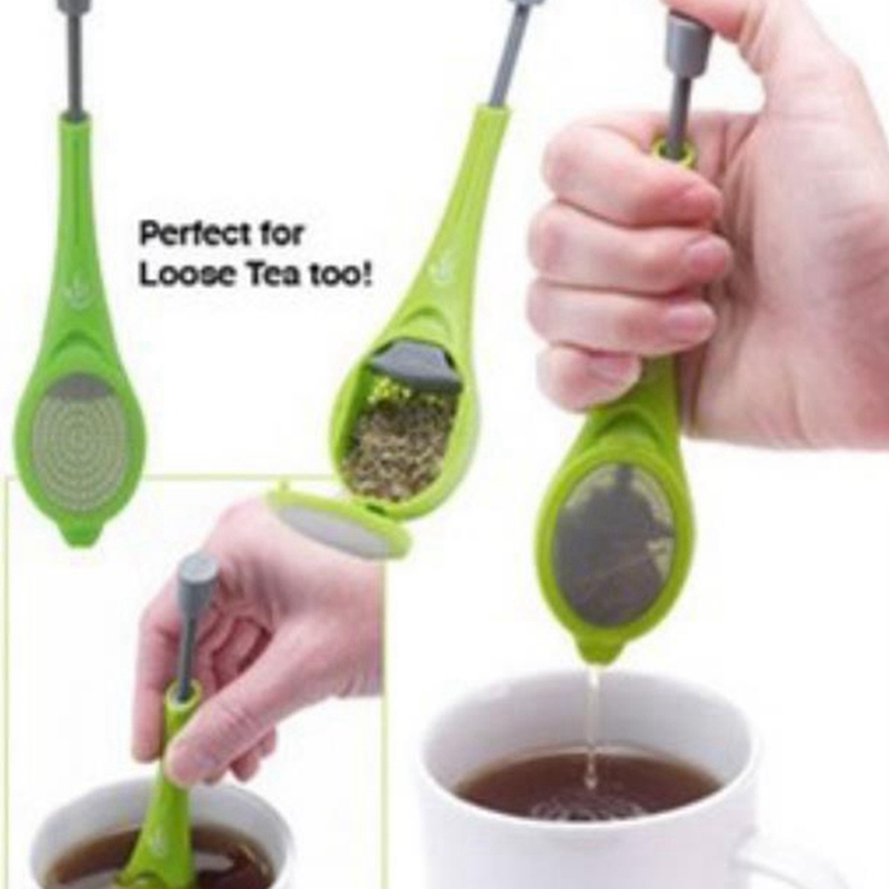 Healthy Food Grade Tea Infuser Silicone Flavor Reusable Tea Bag Loose Leaf Herbal Spice Holder Teapot Tea Brewing Tools