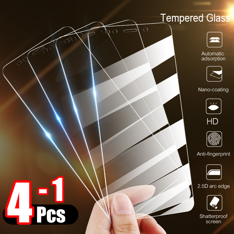 4-1Pcs Tempered Glass For Xiaomi Redmi Note 7 6 5 8 Pro 6A Screen Protector Protective Glass For Redmi Note 8 7 5 Plus 7A Glass