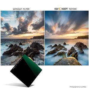 Image 4 - K & F Concept ND1000 filtre carré 100mm x 100mm filtre dobjectif avec support métallique + 8 pièces bagues dadaptation pour Canon Nikon Sony objectif de caméra