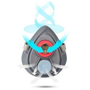 Image 3 - Пылезащитная маска POWECOM 3700, респиратор для частиц, полумаска с фильтром, хлопковая защитная маска для лица, против пыли и смога