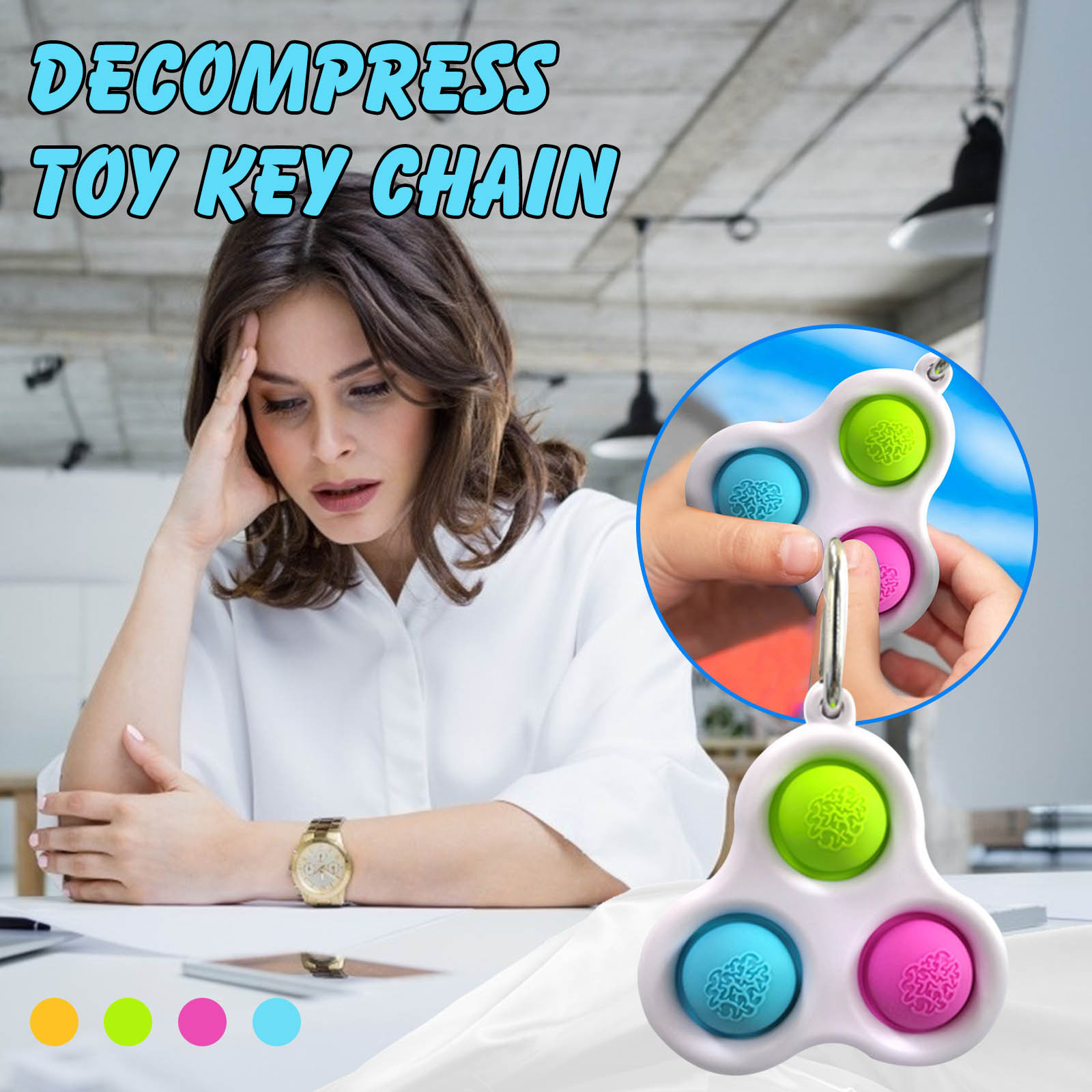 Fidget-Toys Decompression Toy Pressure-Reliever-Board Popit Adult Simple Dimple Children img2