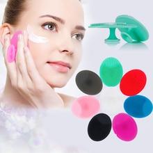 Силиконовая щетка для глубокой чистки лица мягкие подушечки для умывания отшелушивающая щеточка для лица спа скраб для кожи черная головка очищающее средство для макияжа