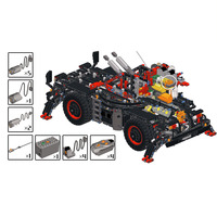202Pcs MOC Small Particle Building Blocks Modified Pack for 42082 Terrain Crane(Only Modified Pack and Electronic Parts,No Crane