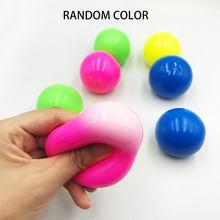 Pegajoso bola de parede teto jogando bola pegajoso alvo bola alívio do estresse brinquedo novidade crianças adultos jogar presente de ventilação fluorescente