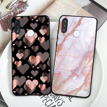 Gold Rose Glitter Love pink Phone Case For Huawei P 9 8 10 40 Mate 30 Honor 8 8A 20 20s 9x nova 6se 5t Y9s PSMART lite pro 2017 image