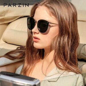 Image 1 - PARZIN Vintage Feminine Sun Glasses Polarized For Driving TR90 Oversized Sunglasses For Women Plastic Titanium