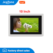 JeaTone intercomunicador con pantalla táctil grande de 10 pulgadas para puerta, Vídeo IP, WIFI, con cable, monitor individual, Control de acceso, desbloqueo por aplicación remota móvil