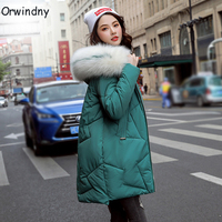 Orwindny Winter Coat Women 2019 New Stylish Female Jacket Thick Warm Cotton Padded Jacket Outerwear Hooded Parkas Green Clothing