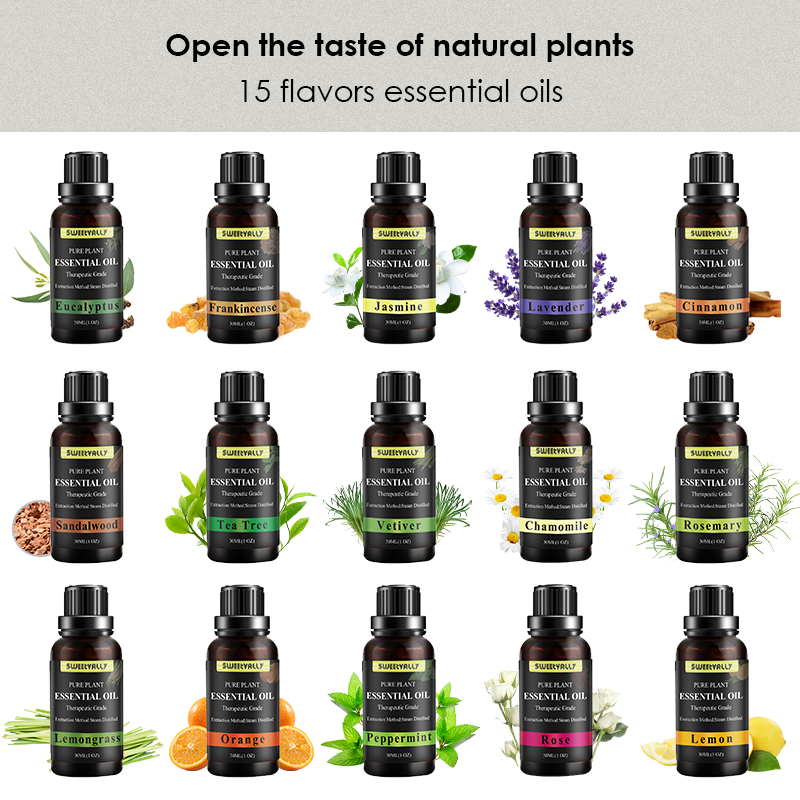 30ml 15 Flavors Essential Oil Relieve Stress Relax Essential Oil Fragrance Essential Oil For Humidifier Aromatherapy Diffusers