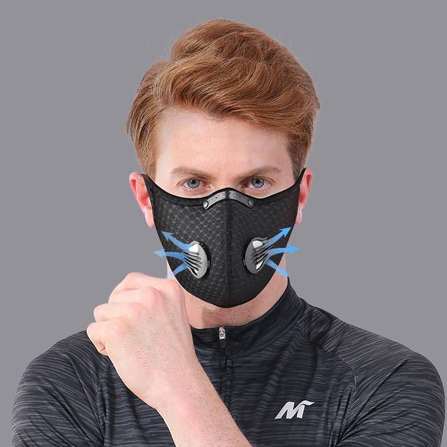 NO.ONEPAUL Dust masks activated carbon windproof mouth muffled anti-flu masks fashion black mask cotton mask facial respirator 3