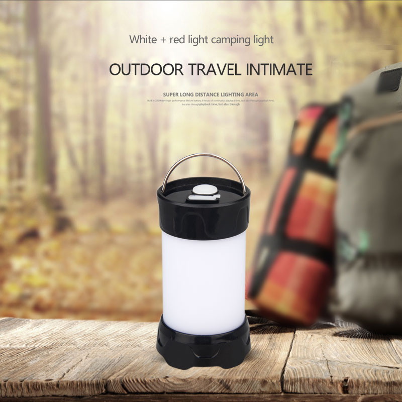 Купить с кэшбэком 5 Mode USB Rechargeable Mini Portable Lanterns Magnet Portable Outdoor LED Camping Lantern Flashlight Waterproof White Red Light