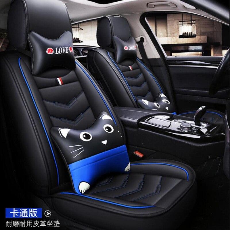 US Car Leather Seat Covers Front+Rear For Hyundai Elantra Sonata ix35 Kia Optima