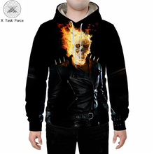 Skull 3D printed sport hoodie men and women fashion casual fun pullover graphic