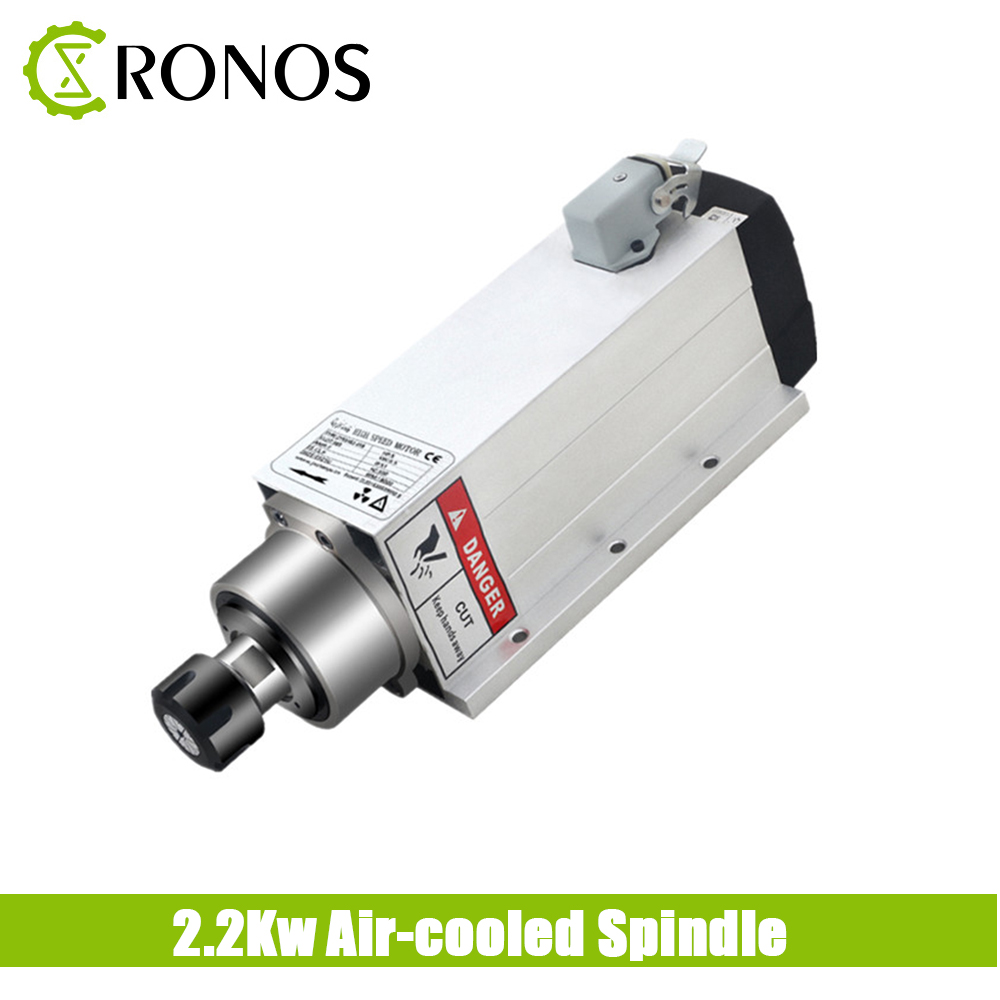 <font><b>2.2KW</b></font> 220V CNC <font><b>Spindle</b></font> Motor <font><b>Air</b></font> <font><b>Cooled</b></font> <font><b>Spindle</b></font> Motor ER20 Collet Chuck Wood Router Machine Tools With 4 Bearings For Engraver image
