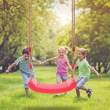 Toy-Equipment Swing-Seat Tree Interactive-Toys Rope Kids Plastic Adjustable Outdoor Children's