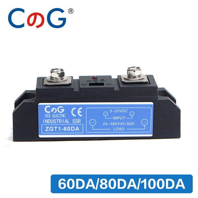 CG 60A 80A 100A Công Nghiệp Cao Cấp Tự Động Dòng công nghiệp DC AC Rắn Tiếp Rắn Rơ Le
