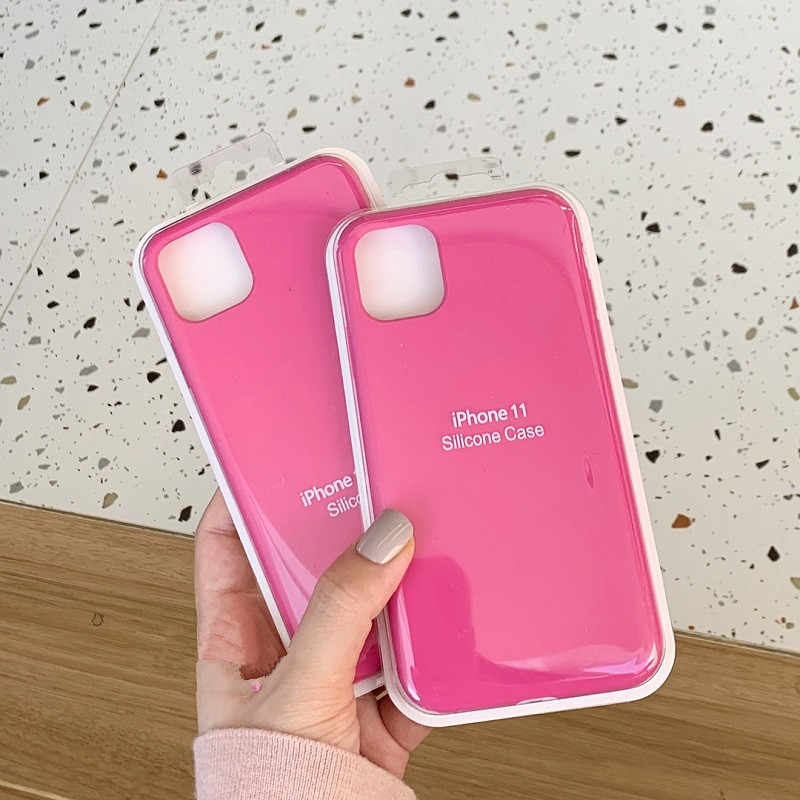 Dchziuan Pitaya Roze Vloeibare Siliconen Case Voor Iphone 11 Pro Xs Max X Xs Xr 6 6 S 7 8 plus Case Shockproof Soft Cover Shell