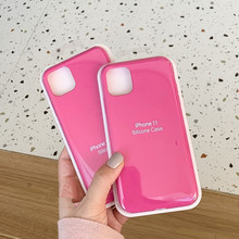 DCHZIUAN Pitaya pink liquid silicone Case For iPhon