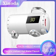 Xiaoda aquecedor de água instantâneo elétrico torneira da cozinha aquecedor temperatura quente e fria ajustável casa inteligente
