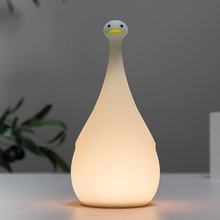 Cute Silica Duck LED USB Night Light Touch sensor table lamp Dimmable for Home Bedroom Baby Children Kids gift