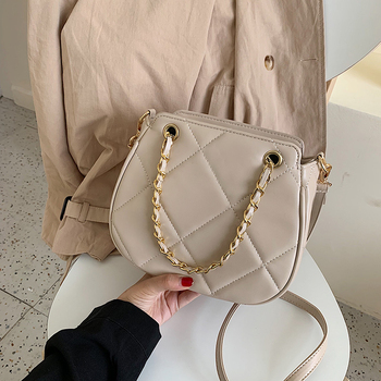 High Quality Women Pu Leather Shoulder Bag New Fashion Designer Chain Crossbody Bags for Women Casual Ladies Handbags Tote Bags image