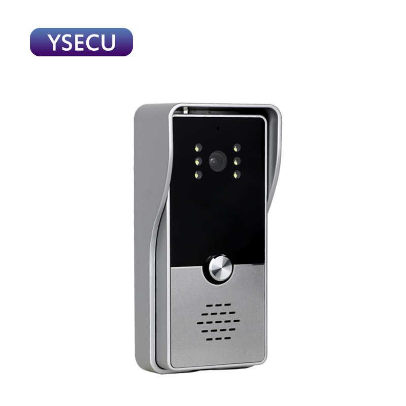 YSECU 7 بوصة 1000TVL الفضة HD فيديو إنترفون عدة للأمن المنزلي ، فيديو باب الهاتف مع قفل ، فيديو إنترفون ، فيديو الجرس