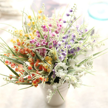 2pcs/lots Artificial Flower Small Bell Plastic Grass Fresh Pastoral Wedding Home Decoration 40cm