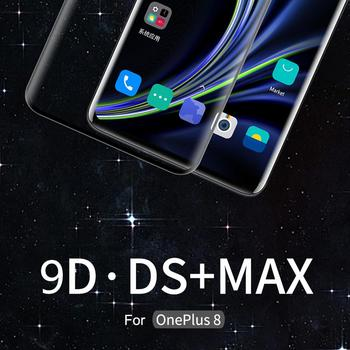 Original NILLKIN for OnePlus 8 Glass 9D DS+ MAX Curved Full Curved Tempered Glass for OnePlus 8 Pro Screen Protector