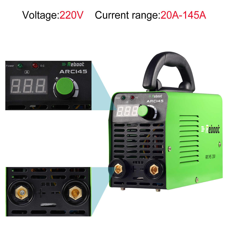 Reboot Stickเครื่องเชื่อม 145A AC 110V/220V MMA Dualโวลต์ARC Mini 1/16 ~ 1/8 นิ้วElectrodeแบบพกพาเครื่องเชื่อม