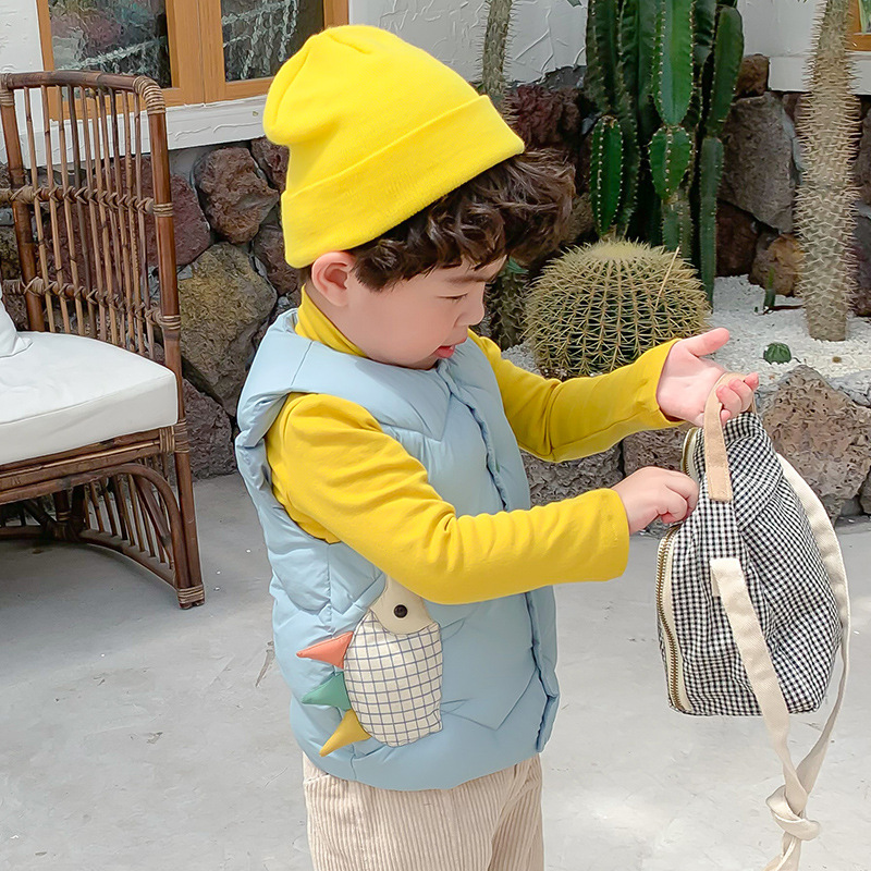 Kids Vest Sleeveless Jacket Children's Clothing Waistcoats For Boys Cotton Winter Autumn Toddler Girl Vest Outerwear Jacket 5