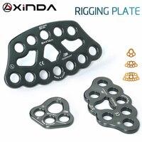 Vender Accesorio profesional XINDA, placa de cuerda dividida, placa de fuerza de 4 orificios, placa de escalada de roca de cuatro orificios para exteriores