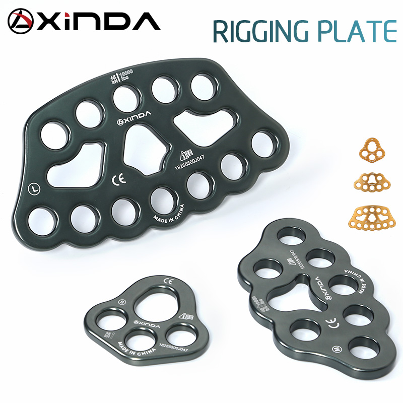 XINDA Professional Accessory Split Rope Plate Divide 4-hole Force Plate Outdoor  Four-hole Plate Rock Climbing Equipment