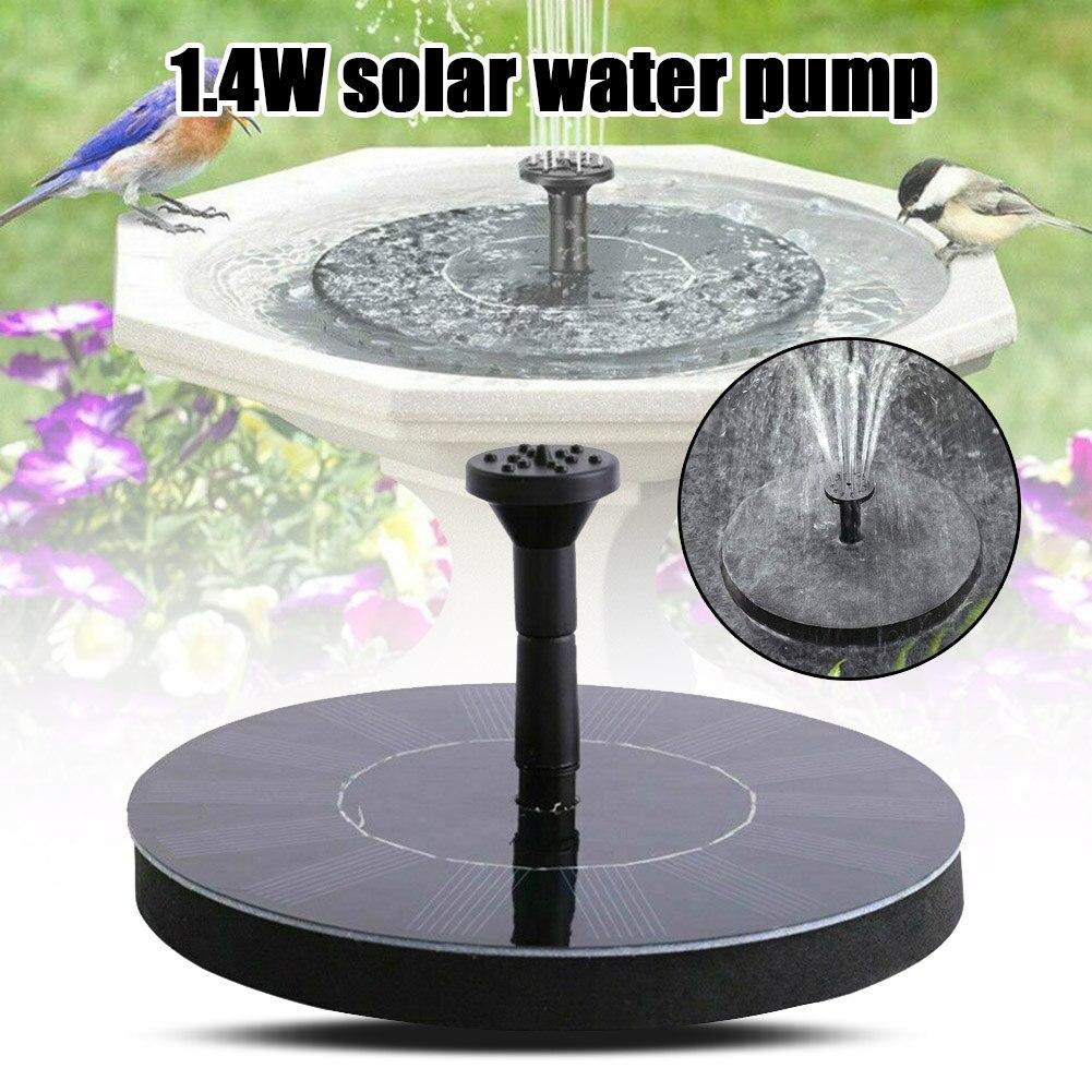 Vögel Bad Brunnen Solar Powered Wasserpumpe Schwimm Outdoor Teich Garten Terrasse Pool FP8