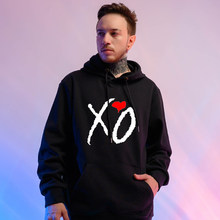 XO The Weeknd Print Hoodies Harajuku Women/Men Pullovers Unisex Hooded Sweatshirt Kpop Tracksuit Streetwear Clothing XXS-4XL(China)