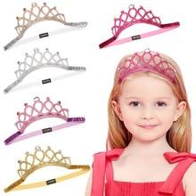 Accesorios para el cabello para niña, accesorios para el cabello para fiesta de cumpleaños de princesa, corona de cristal con brillantes