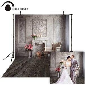 Image 1 - Allenjoy casamento fotografia pano de fundo europeu de luxo lareira flor princesa photo studio photophone photocall
