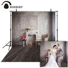 Allenjoy wedding photography backdrop European luxury fireplace flower princess background photo studio photophone photocall